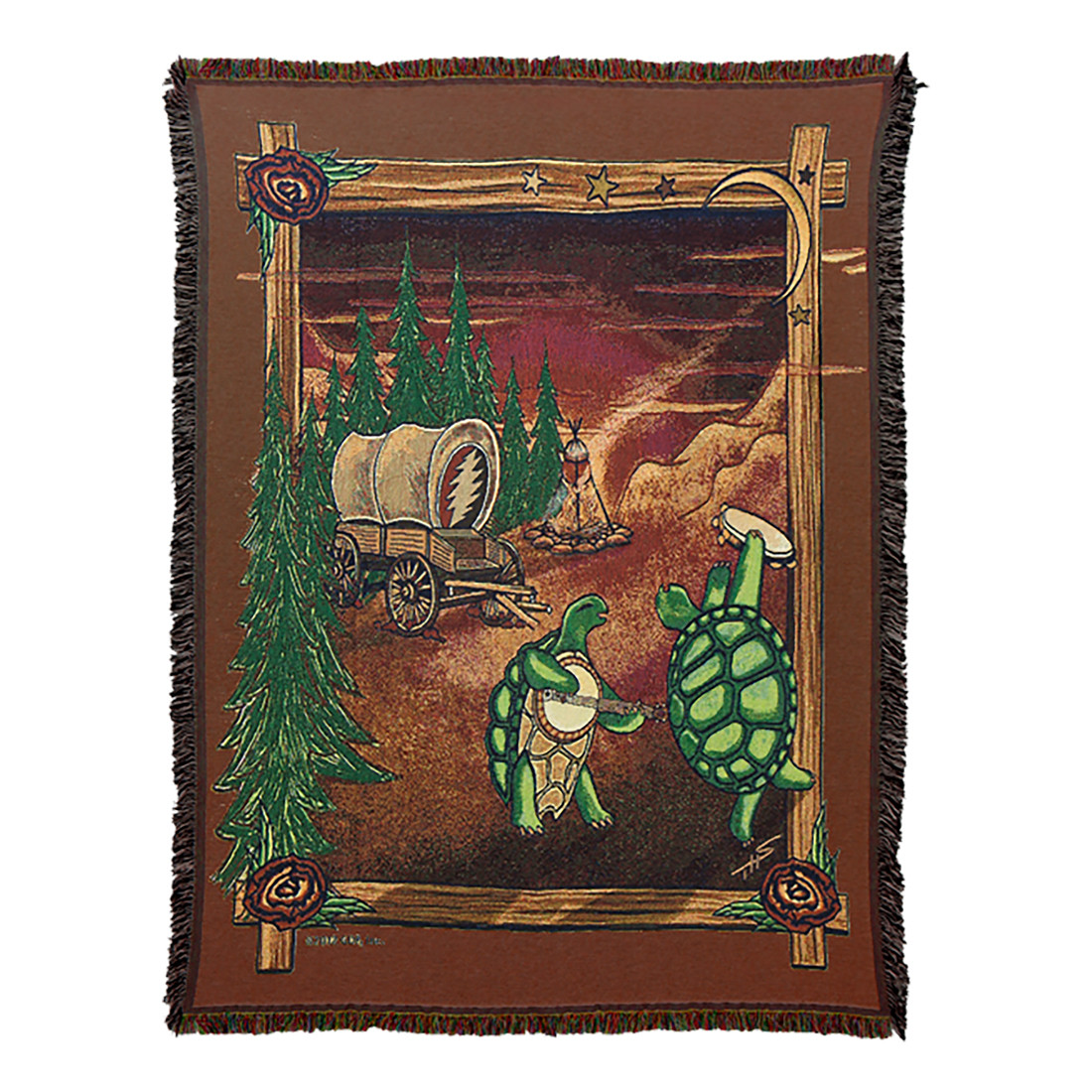 GD Covered Wagon Woven Blanket