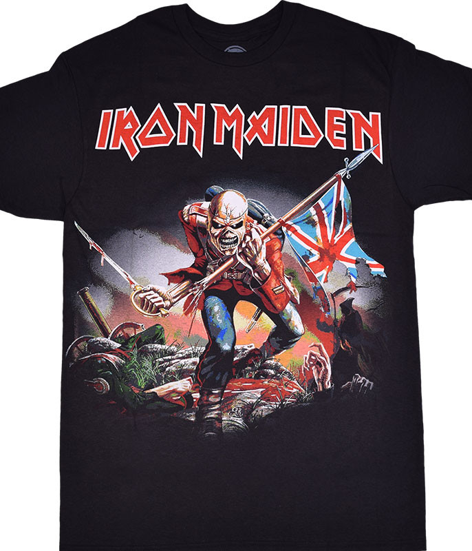 Iron Maiden Trooper Black T-Shirt Tee