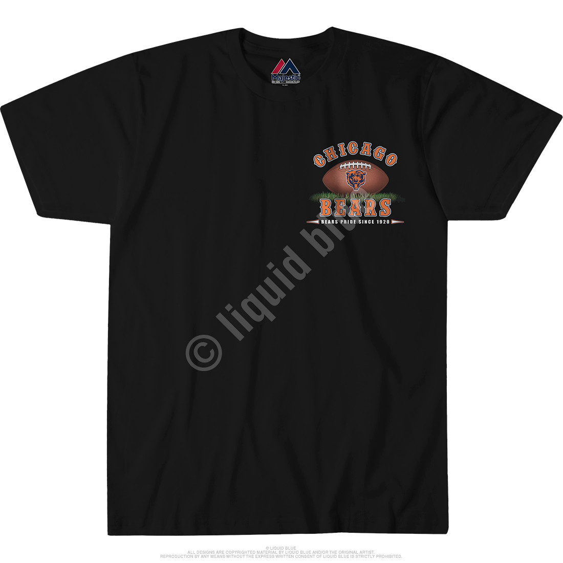 Chicago Bears End Zone Black T-Shirt