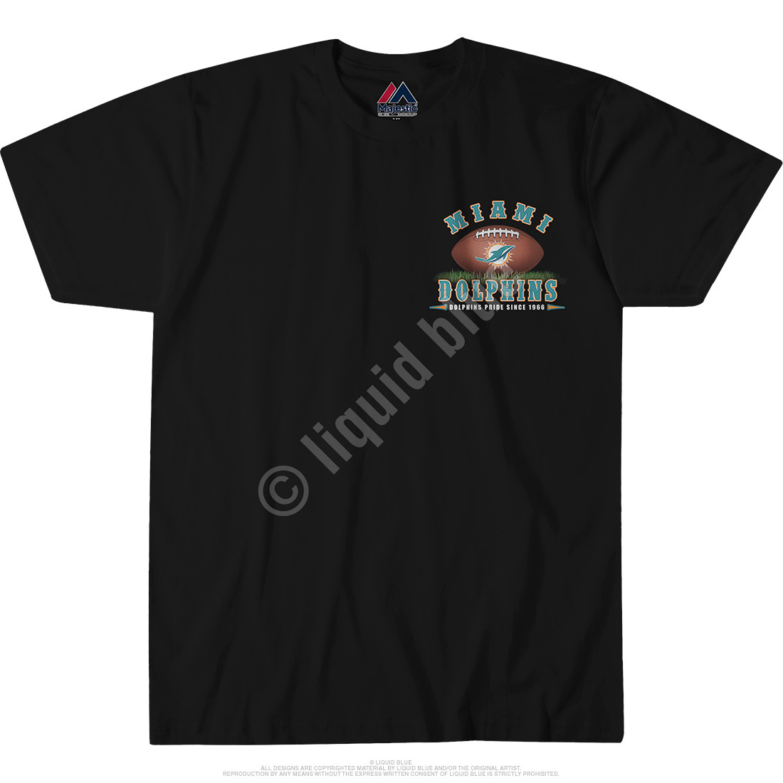 Miami Dolphins End Zone Black T-Shirt