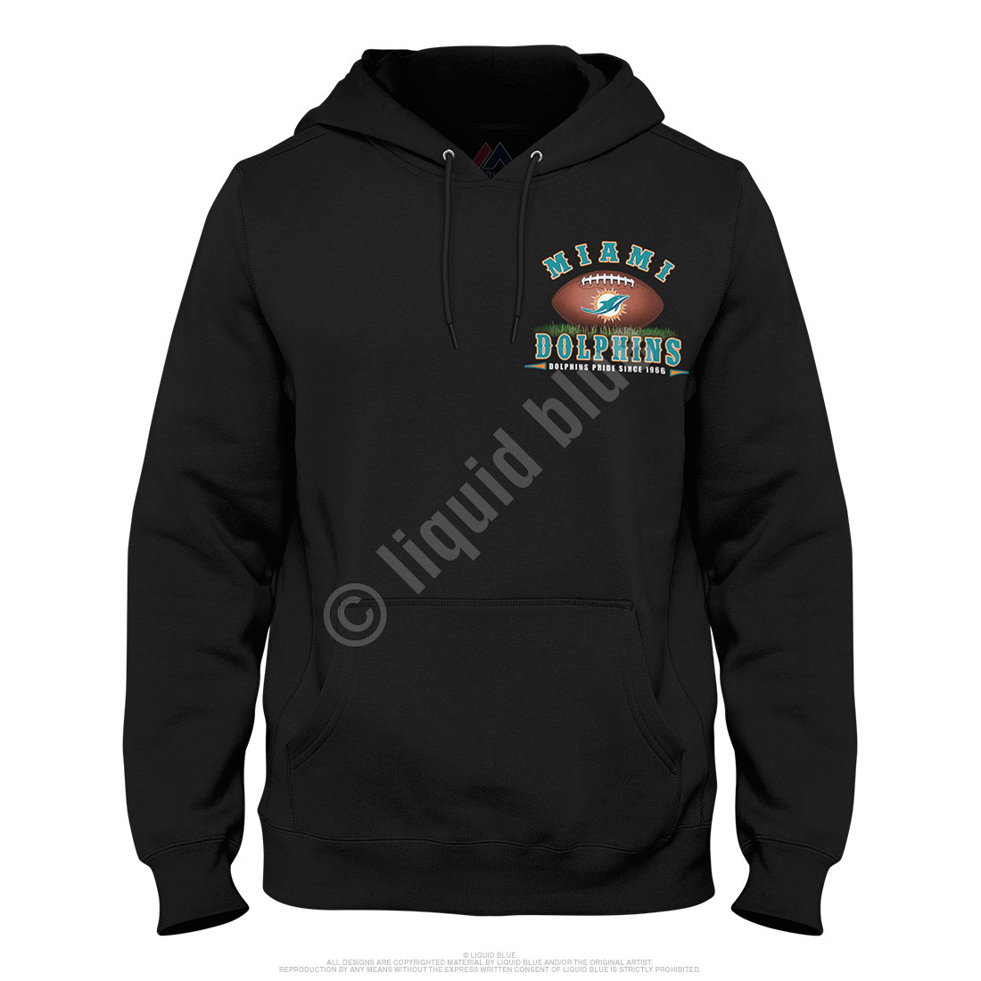 Miami Dolphins End Zone Black Hoodie