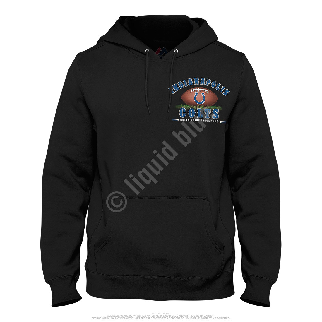 Indianapolis Colts End Zone Black Hoodie