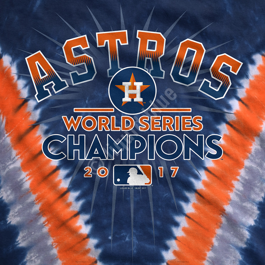 low priced 4457b 3ea14 Houston Astros World Series Champions V Tie-Dye T-Shirt Clearance 50% OFF