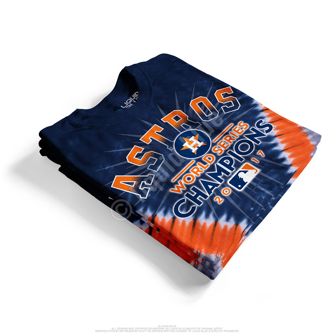 Houston Astros World Series Champions V Tie-Dye T-Shirt