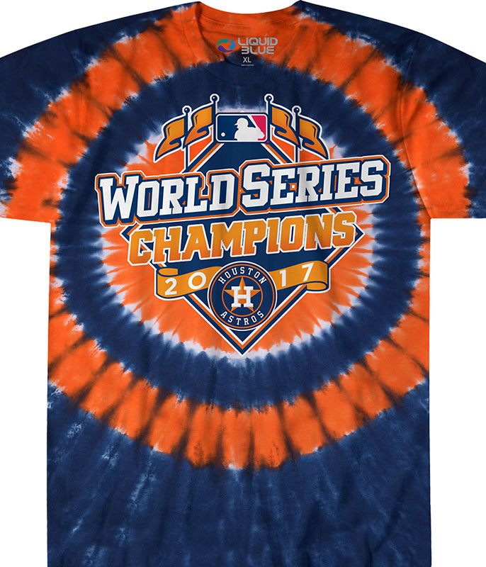 Houston Astros 2017 World Series Champions Logo Tie-Dye T-Shirt