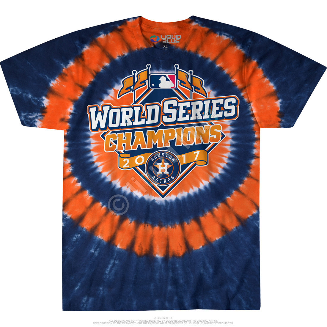 fe0d5980854 Houston Astros 2017 World Series Champions Logo Tie-Dye T-Shirt