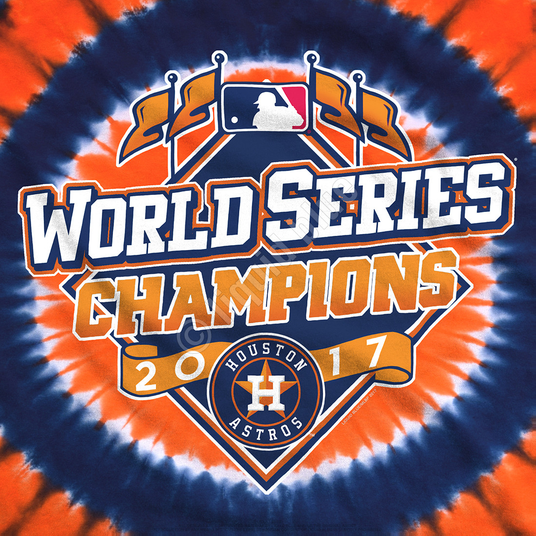 separation shoes a7010 8f950 Houston Astros World Series Champions Logo Tie-Dye T-Shirt Clearance 50% OFF