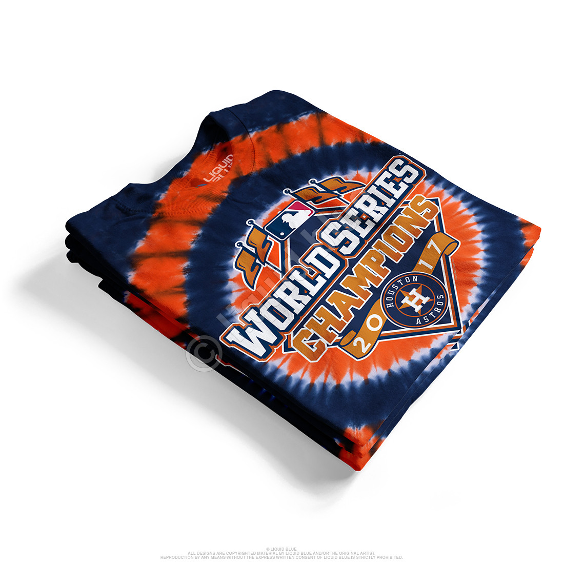 Houston Astros World Series Champions Logo Tie-Dye T-Shirt
