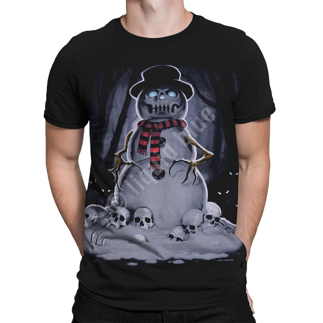 Snowman Black T-Shirt