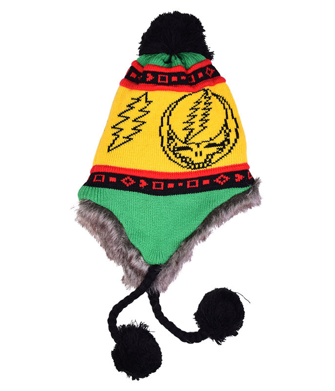 Grateful Dead GD Rasta SYF Lined Flap Hat