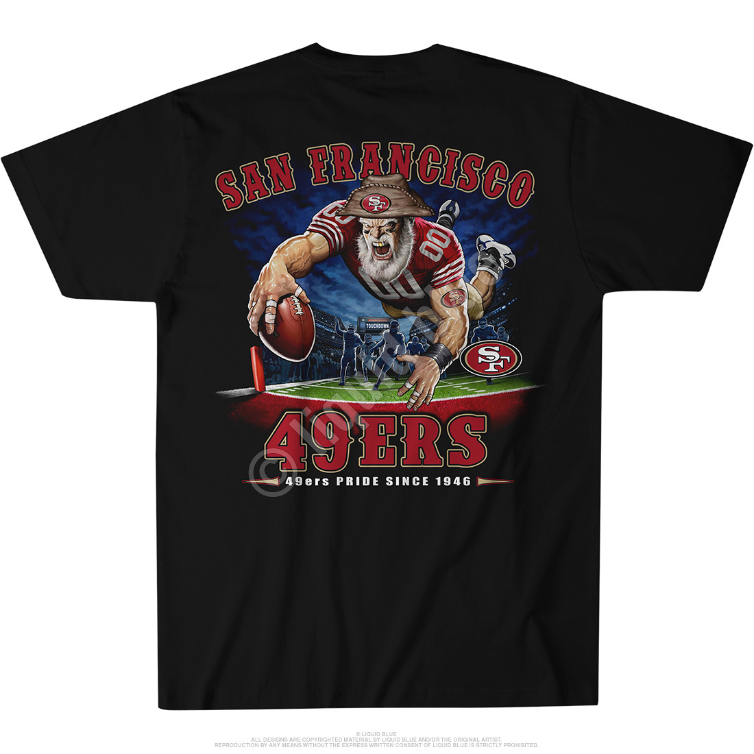 San Francisco 49ers End Zone Black T-Shirt