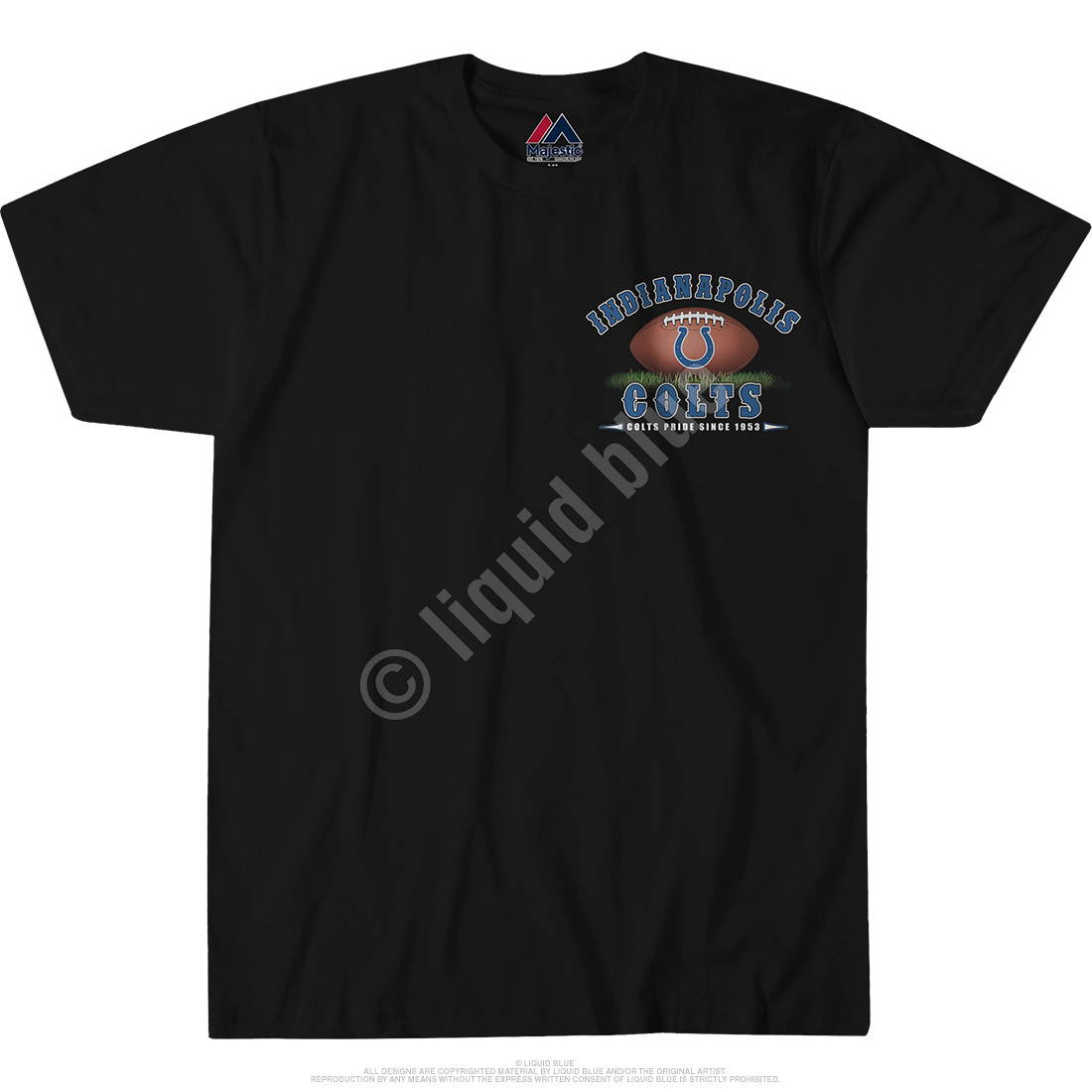 Indianapolis Colts End Zone Black T-Shirt