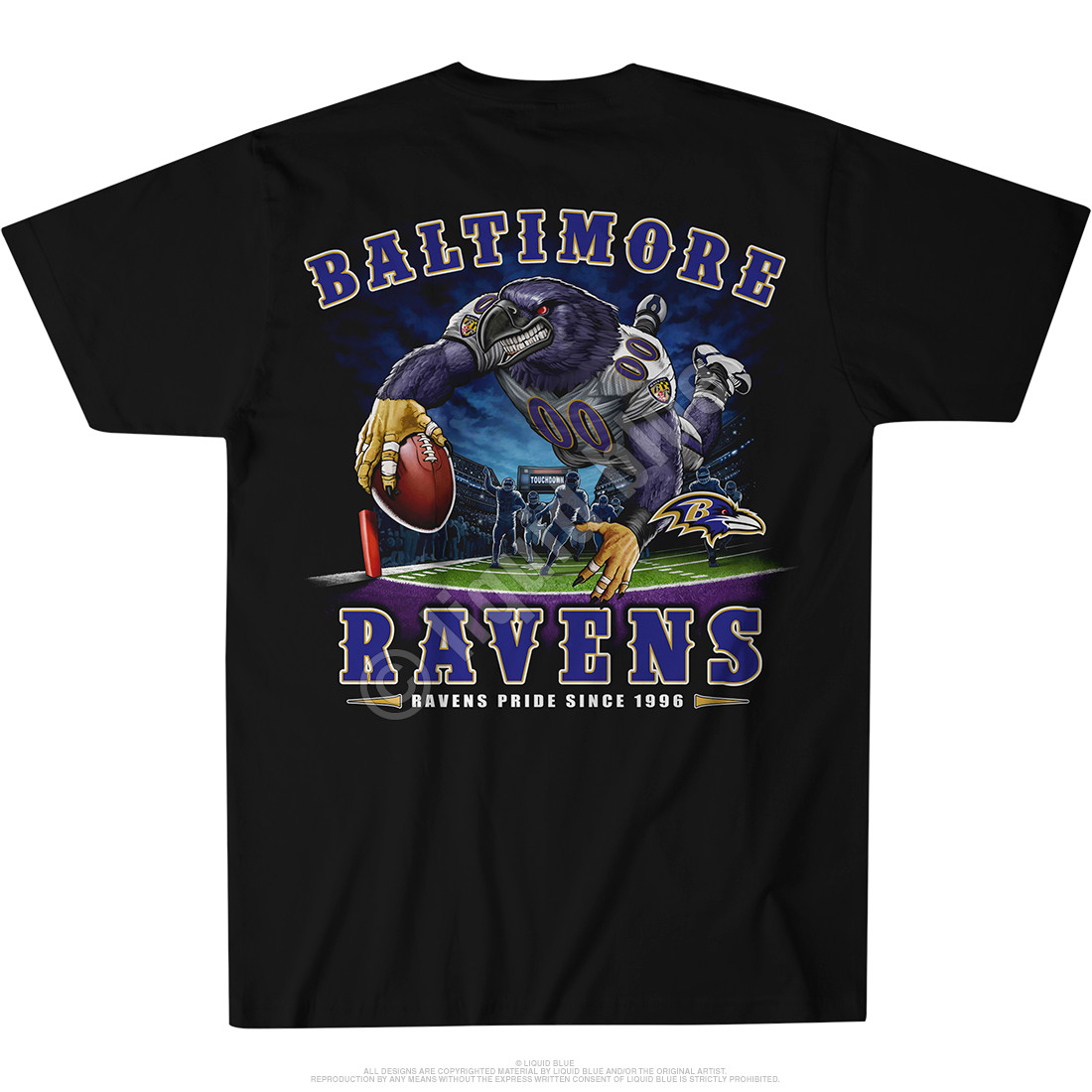 Baltimore Ravens End Zone Black T-Shirt