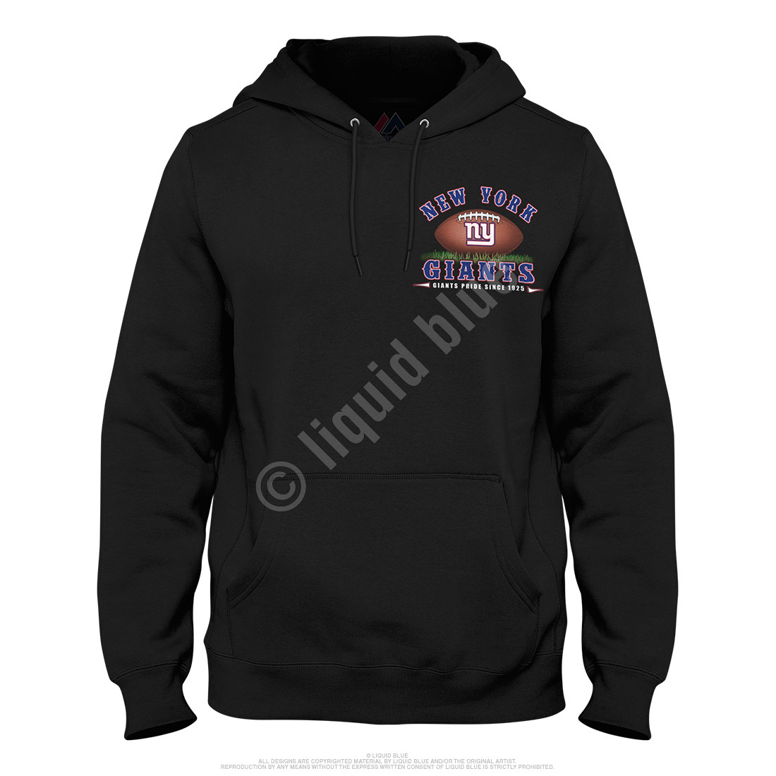 New York Giants End Zone Black Hoodie