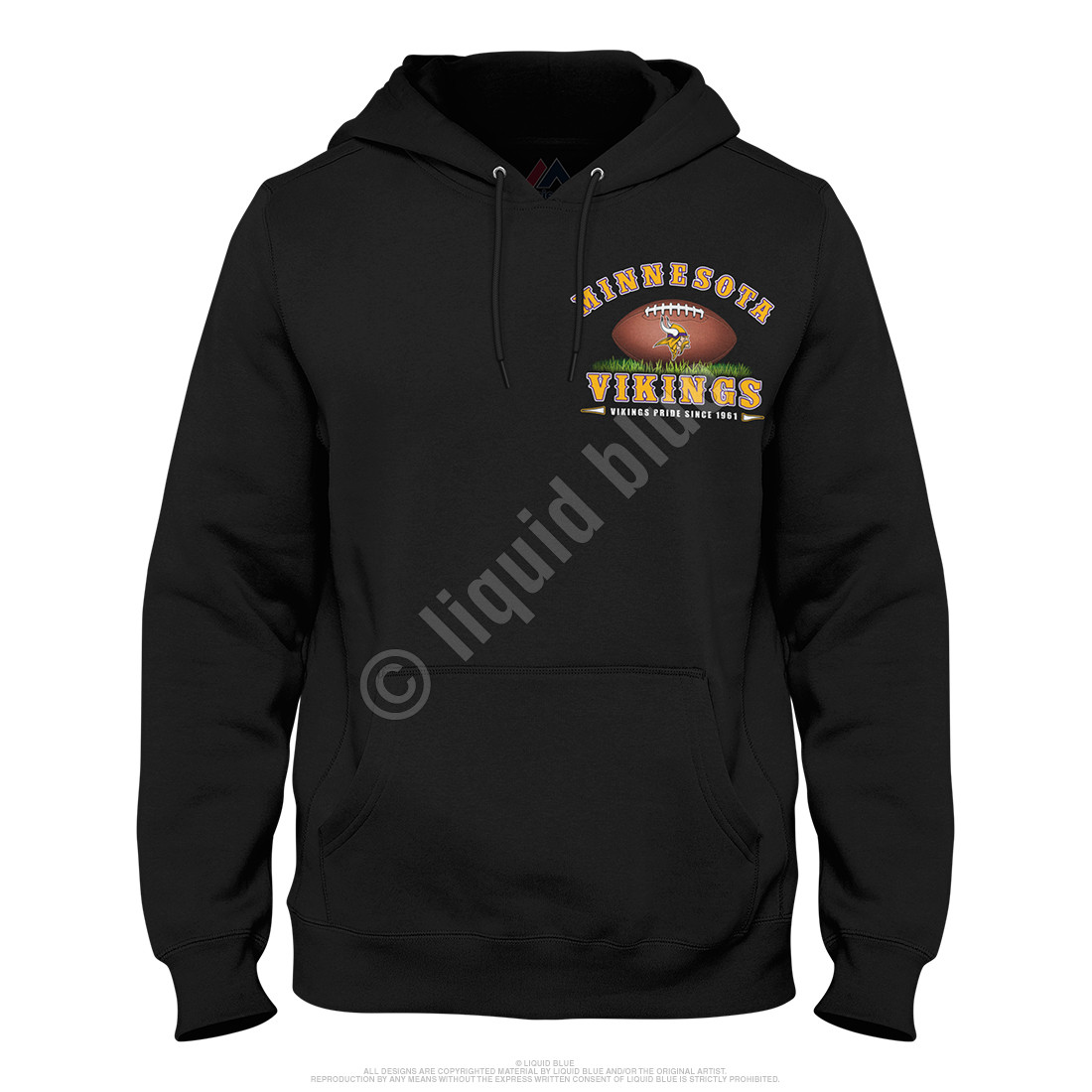 Minnesota Vikings End Zone Black Hoodie