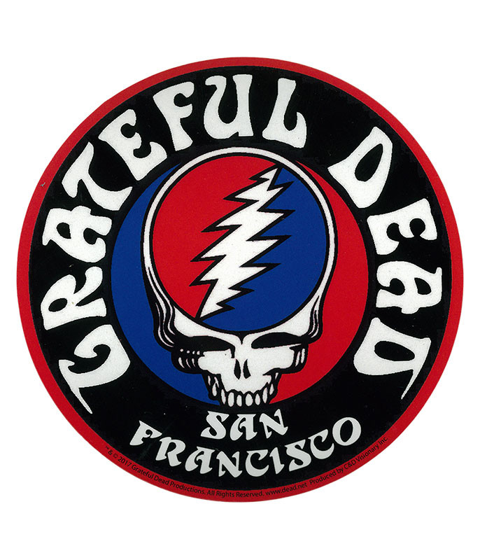 Grateful Dead GD San Fran Logo Sticker