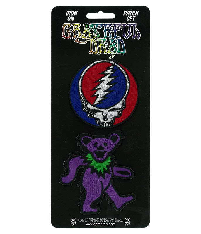 Grateful Dead GD SYF & Bear Patch Set
