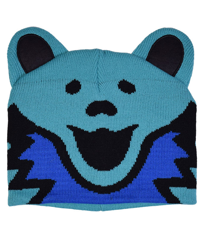 GD Blue Bear Beanie Hat