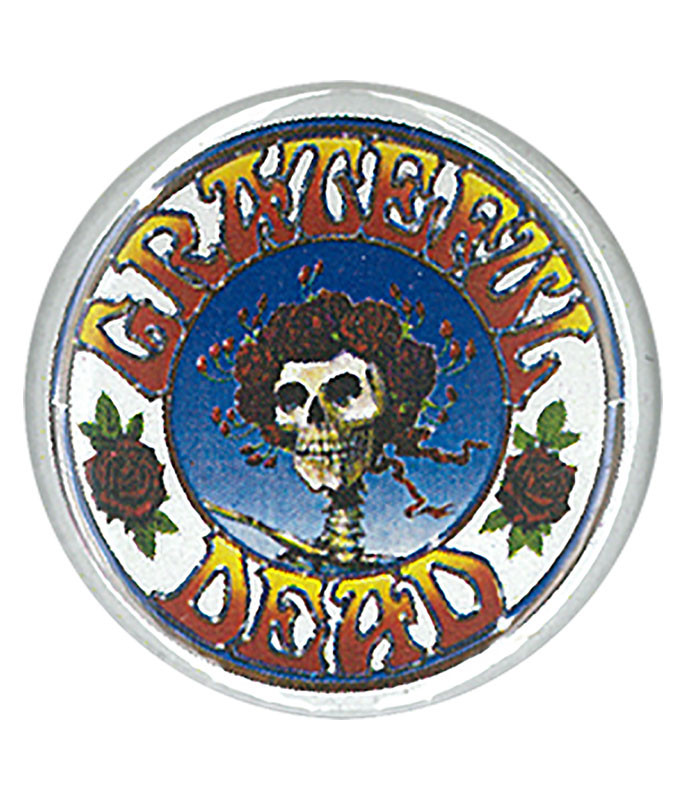 GD SKULL AND ROSES PIN