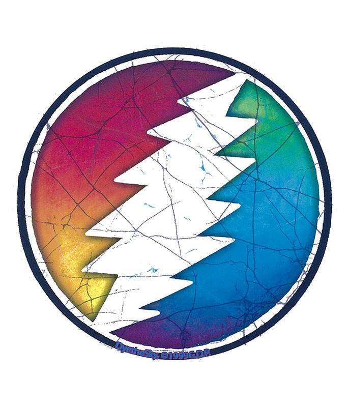 Grateful Dead GD Circle Bolt Large Sticker