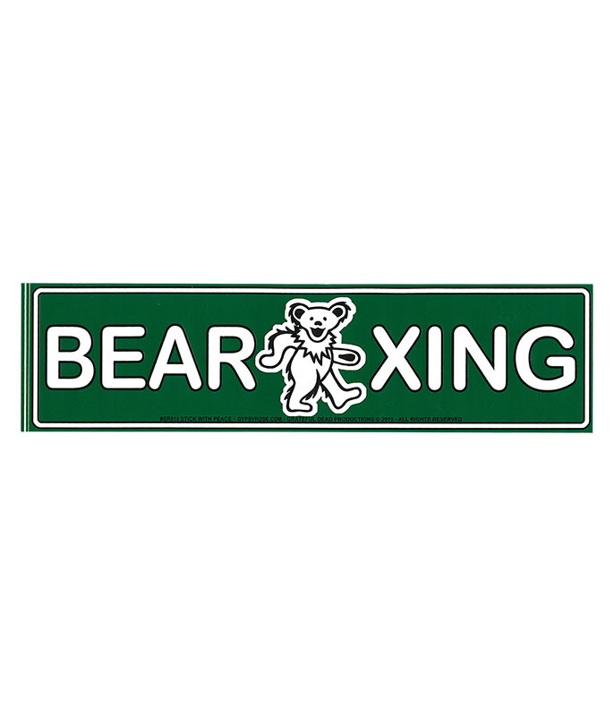 GD BEAR CROSSING STICKER