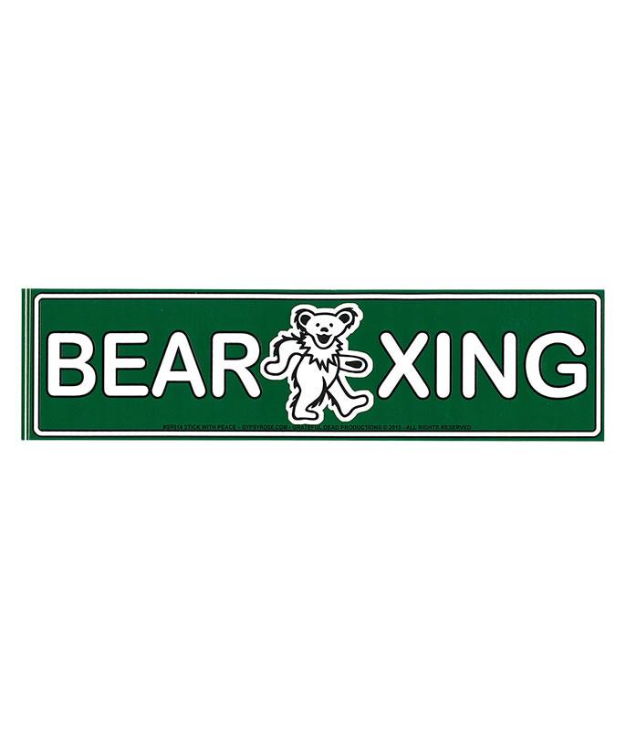 Grateful Dead GD Bear Crossing Sticker