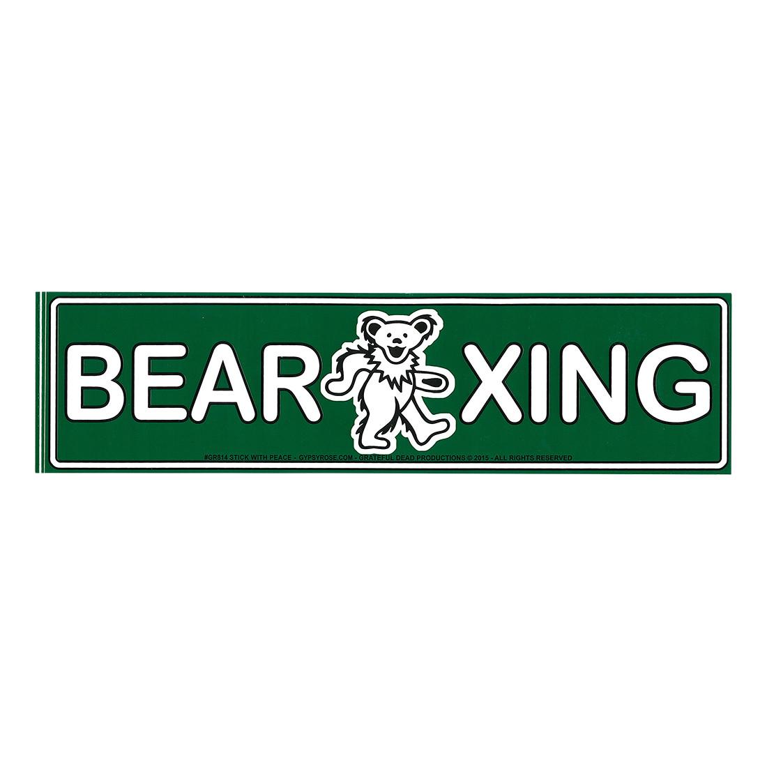 GD Bear Crossing Sticker