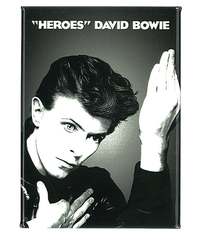 BOWIE HEROES MAGNET