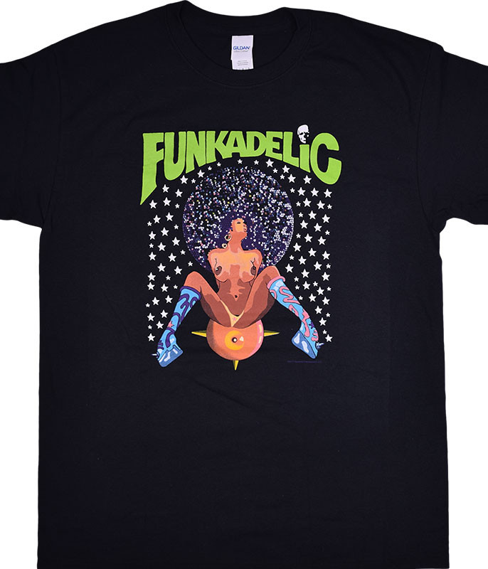 George Clinton Funkadelic Afro Girl Black T-Shirt Tee