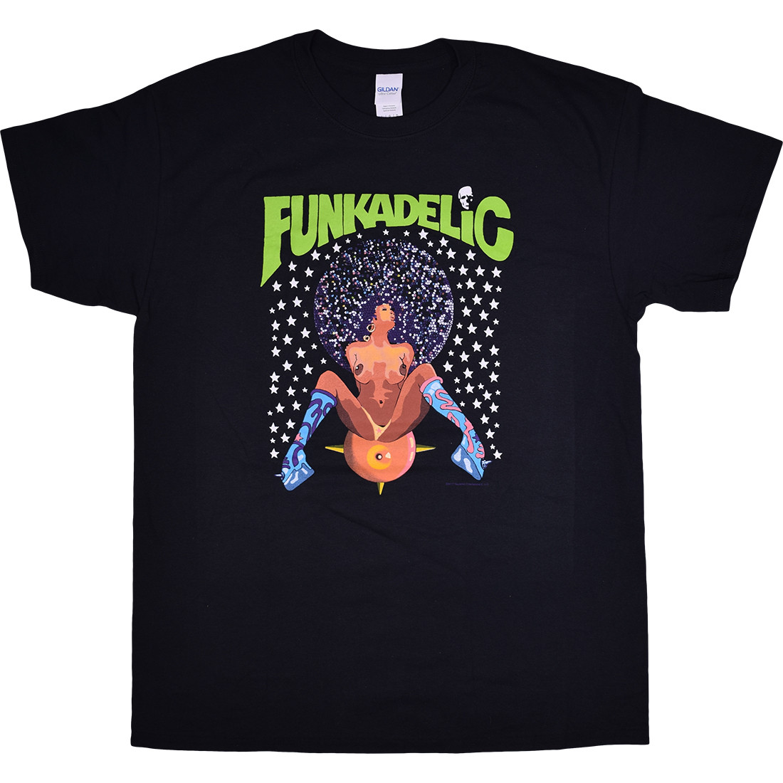 Funkadelic Afro Girl Black T-Shirt