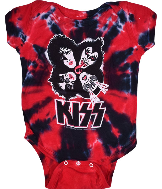 KISS Burst Tie-Dye Onesie Liquid Blue