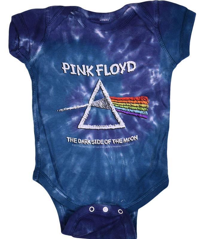 Pink Floyd Dark Side Chalk Tie-Dye Onesie Liquid Blue