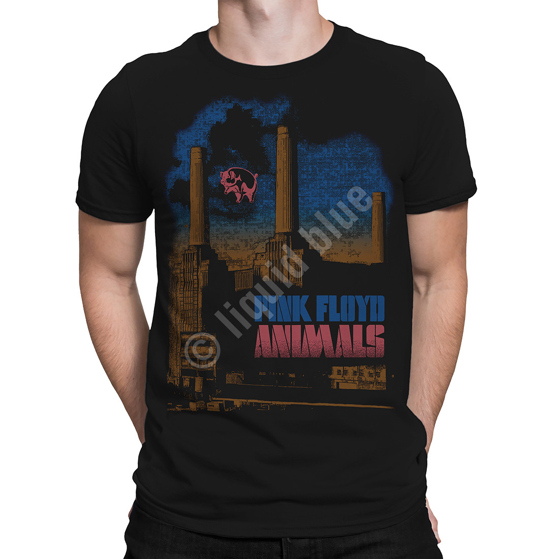 PINK FLOYD PIG STAIN T SHIRT ROCK ANIMALS OFFICIAL LICENSED