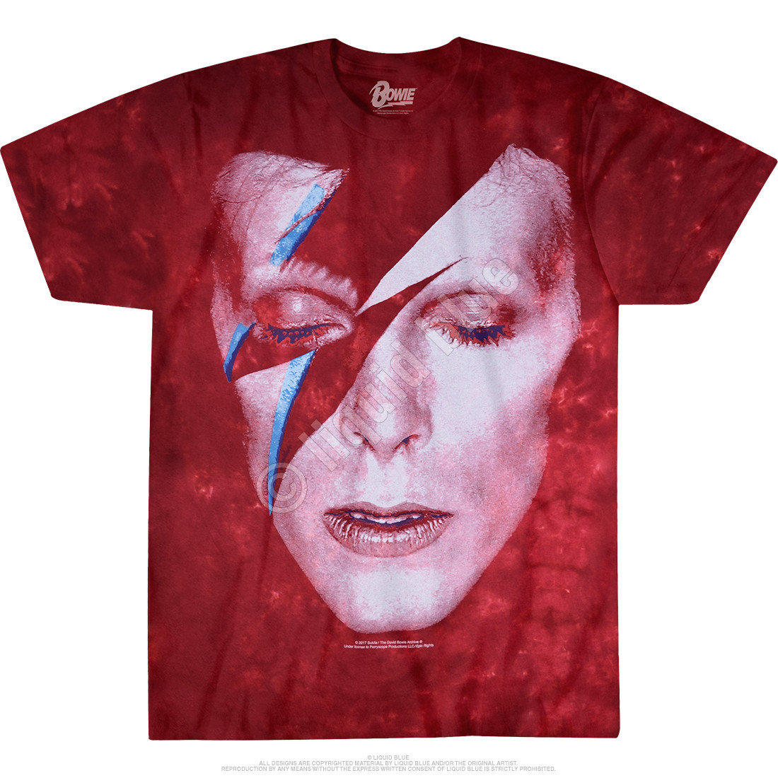 Ladies White Aladdin Sane David Bowie Rock Licensed Tee T-Shirt Womens