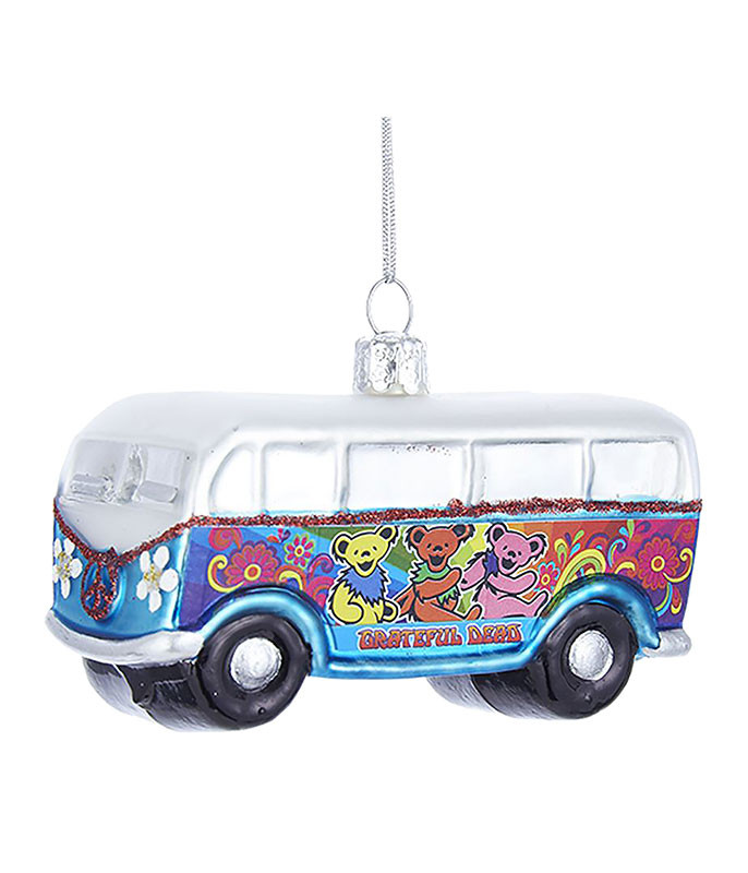 GRATEFUL DEAD BUS GLASS ORNAMENT
