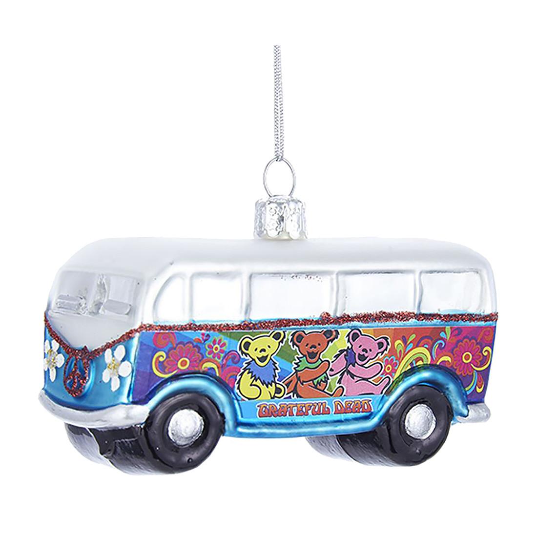 GD Bus Glass Ornament