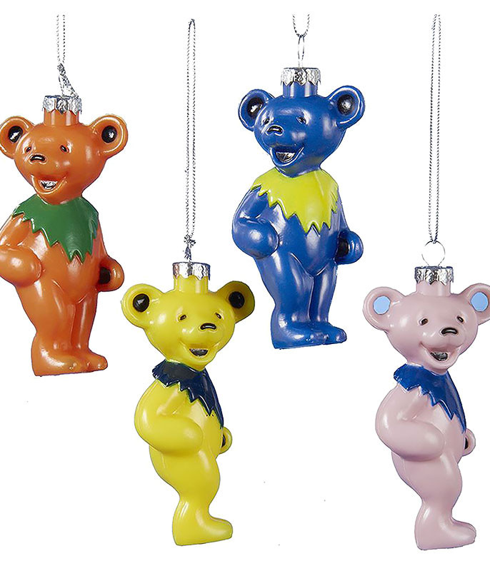 GD Dancing Bear 4pc Ornament Set