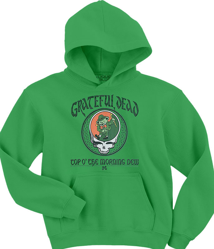 Grateful Dead Morning Dew Green Hoodie Liquid Blue
