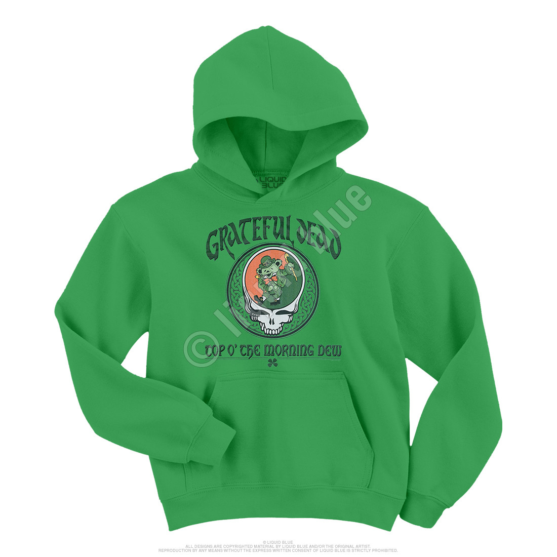 Morning Dew Green Hoodie