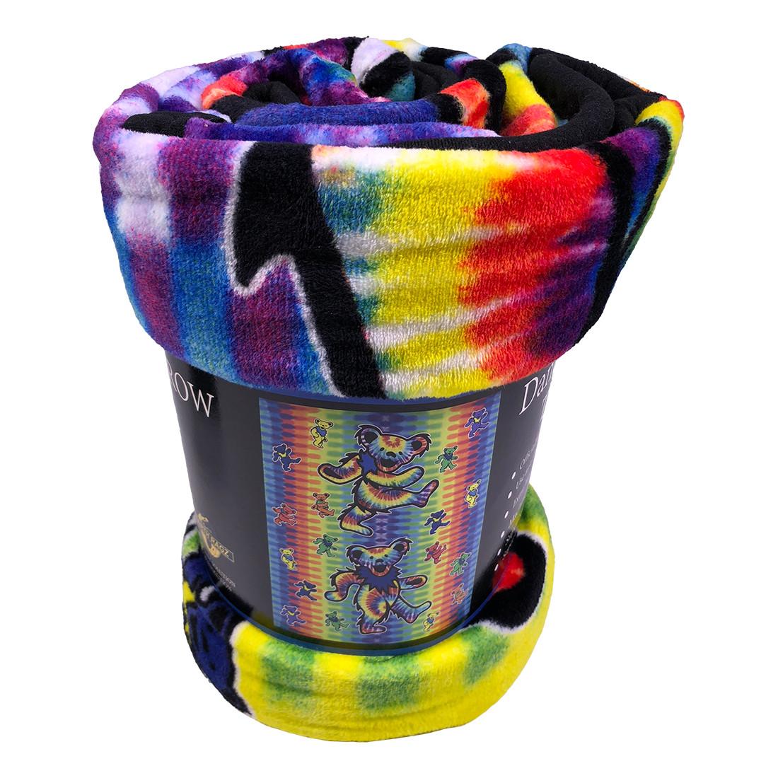 GD Dancing Bear Tie-Dye Fleece Blanket