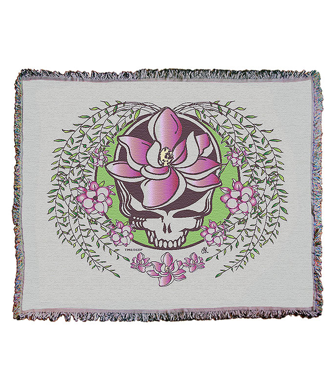 Grateful Dead GD Sugar Magnolia SYF Cream Woven Blanket
