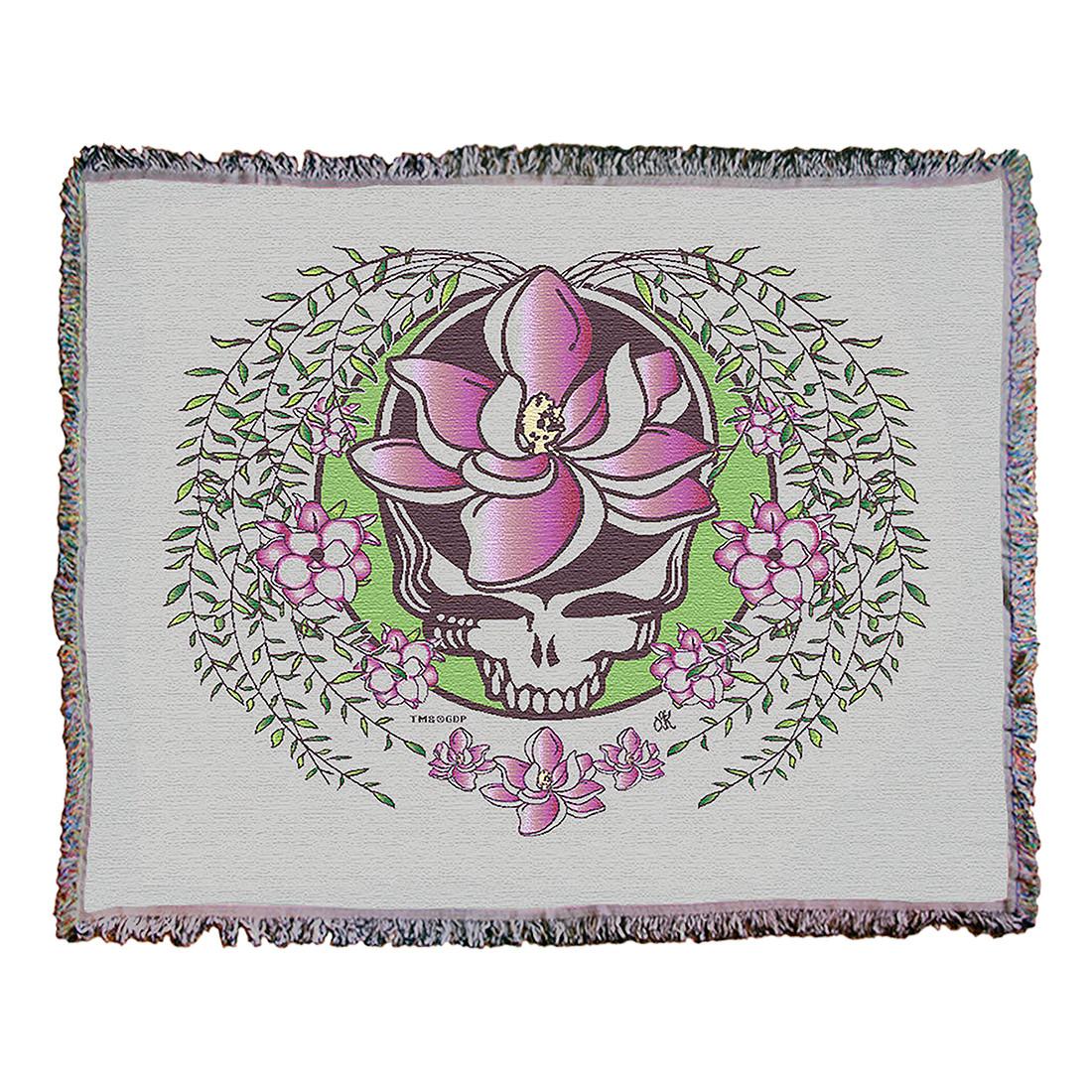 GD Sugar Magnolia SYF Cream Woven Blanket