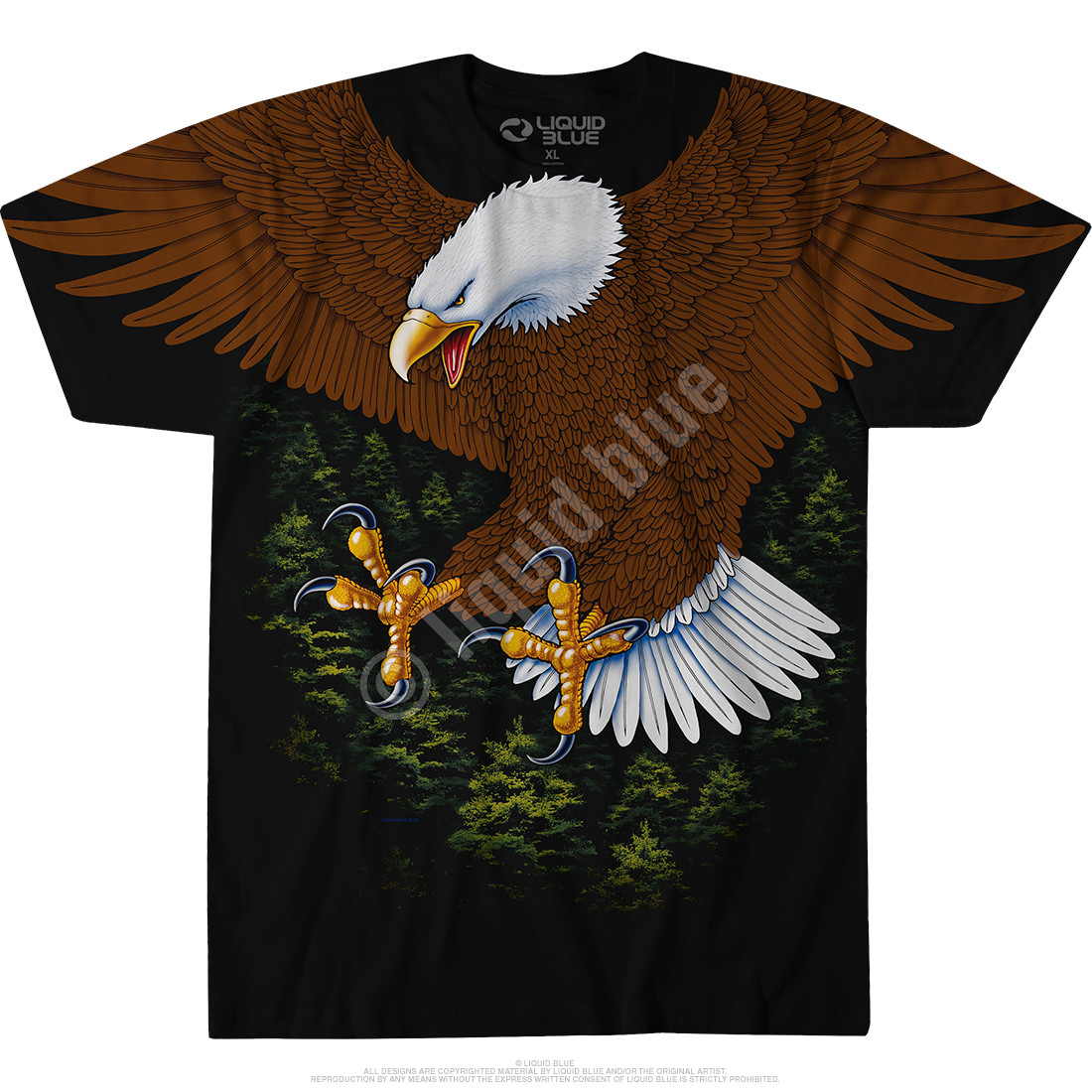 Vintage Eagle Black T-Shirt