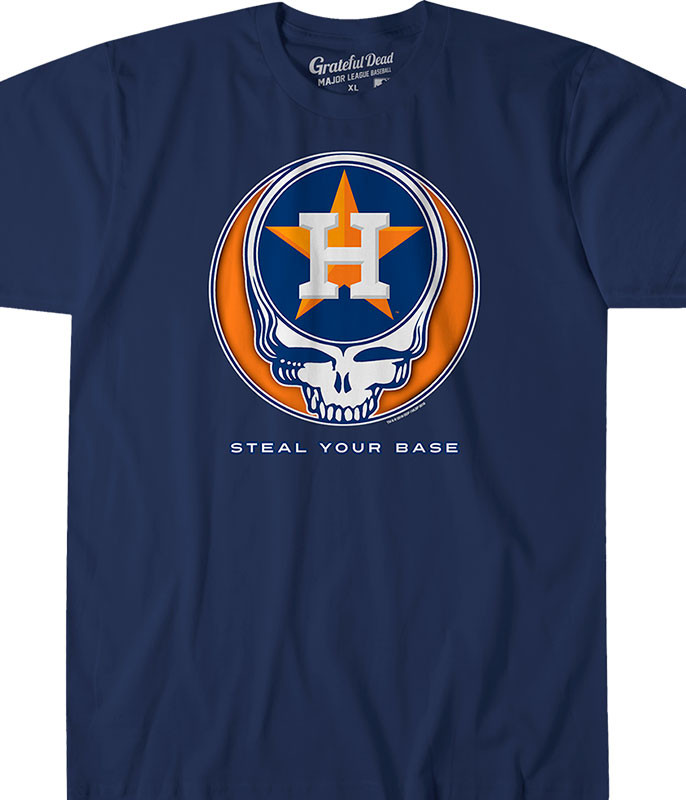 Houston Astros Steal Your Base Navy Athletic T-Shirt