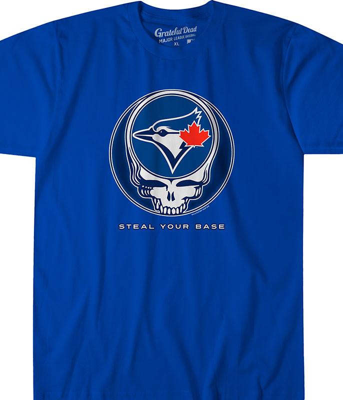 MLB Toronto Blue Jays GD Steal Your Base Blue Athletic T-Shirt Tee Liquid Blue