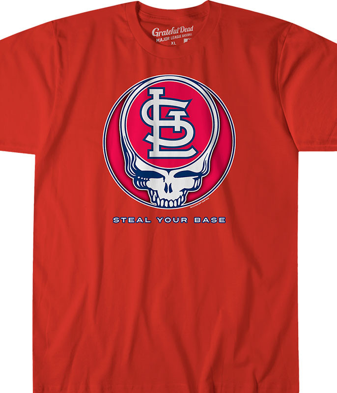 58f0950177c MLB St. Louis Cardinals GD Steal Your Base Tie-Dye T-Shirt Tee ...