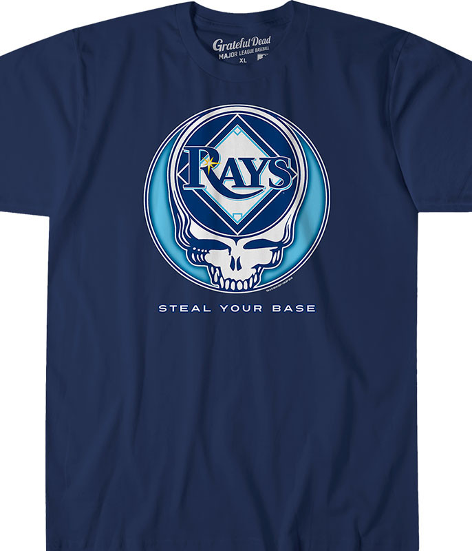 MLB Tampa Bay Rays GD Steal Your Base Navy Athletic T-Shirt Tee Liquid Blue
