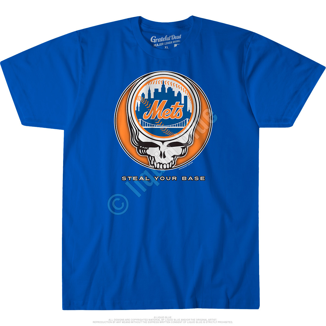 New York Mets Steal Your Base Blue Athletic T-Shirt