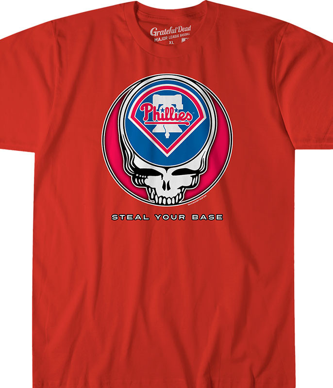 Philadelphia Phillies Steal Your Base Red Athletic T-Shirt c9ae30463