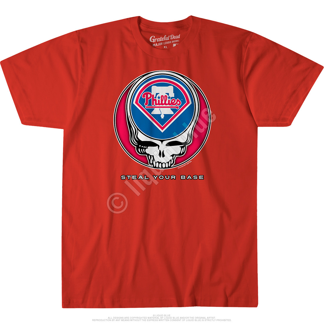Philadelphia Phillies Steal Your Base Red Athletic T-Shirt